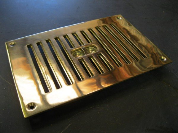 Brass Air Vent (Flush Mounted)