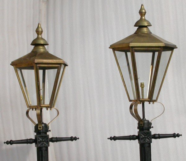 Regency Style Hexagonal Lamp Top