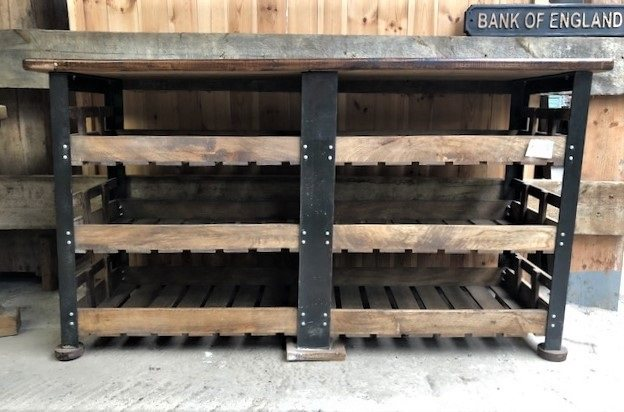 Double Fruit Crate Shelving Unit