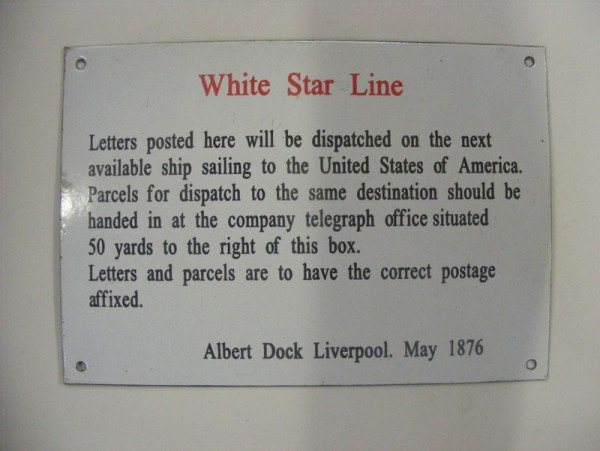 Enamel Sign (White Star Line)