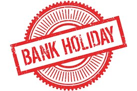 We are closed on Bank Holiday Monday!