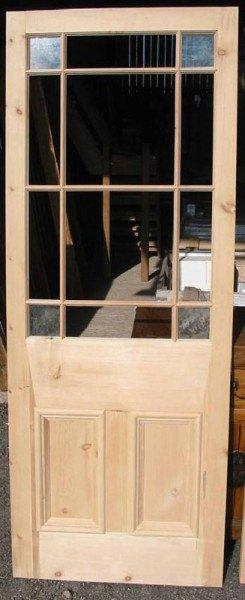 Vestibule Door & glass panel door - Wells Reclamation