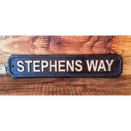 Wooden Sign (Stephens Way)