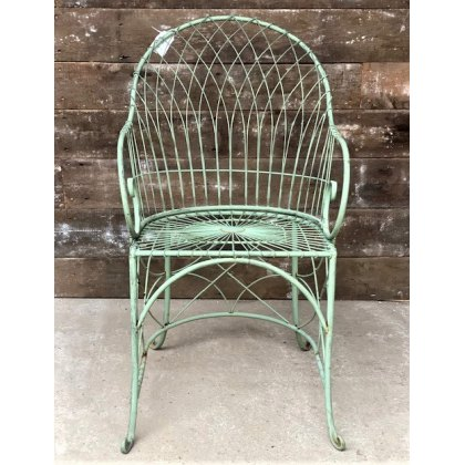 Wire Curved Back Garden Chair