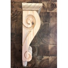 Wooden Corbel (Large Scroll)