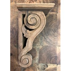 Wooden Corbel (Teak - Narrow Scroll)