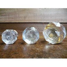 Glass Cupboard Knob (Brass Collar)