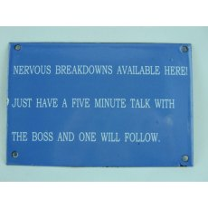 Enamel Sign (Nervous Breakdown)