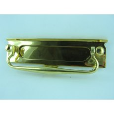Brass Letter Plate with Knocker