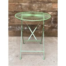 Small Round Folding Wire Table