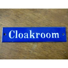 Enamel Sign (Cloakroom)