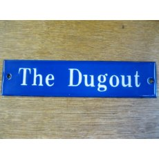 Enamel Sign (The Dugout)