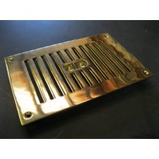 "Brass Air Vent (Hit & Miss 9"" x 6"")"