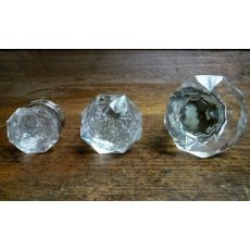 Glass Cupboard Knob (Chrome Collar)