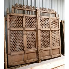 Pair of Large Teak Doors (Lattice)