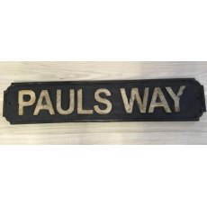 Wooden Sign (Pauls Way)
