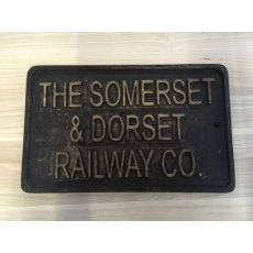 Wooden Sign (Somerset & Dorset Railway)