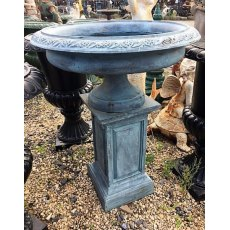 Cast Iron Urn on Plinth