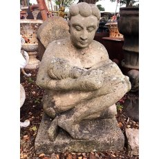 Reclaimed Garden Statue 'Mother & Child'