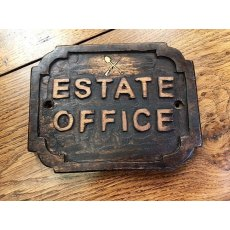 Wooden Sign (Estate Office)