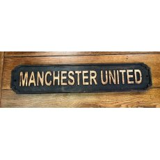 Wooden Sign (Manchester United - black)