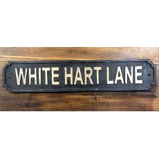 Wooden Sign (White Hart Lane)