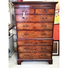 Flame Mahogany Georgian Chest on Chest