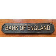 Wooden Sign (Bank of England)