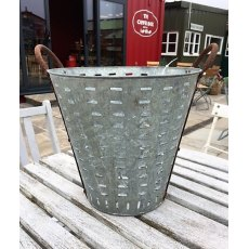 Reclaimed Galvanised Olive Bucket