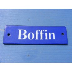 Enamel Sign (Boffin)