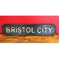 Wooden Sign (Bristol City)