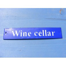 Enamel Sign (Wine Cellar)