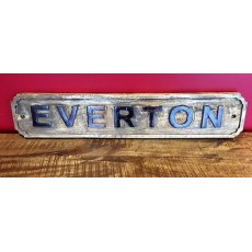 Wooden Sign (Everton)