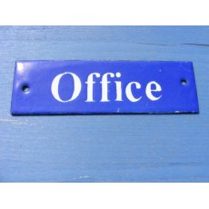 Enamel Sign (Office)