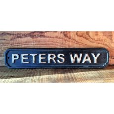 Wooden Sign (Peters Way)