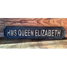 Wooden Sign (HMS Queen Elizabeth)