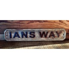 Wooden Sign (Ians Way)
