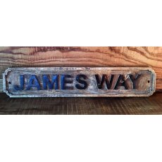 Wooden Sign (James Way)