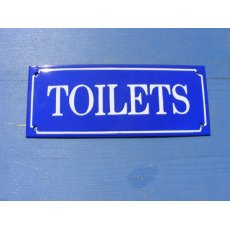 Enamel Sign (Toilets)