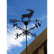 Black Weathervane (Stag)
