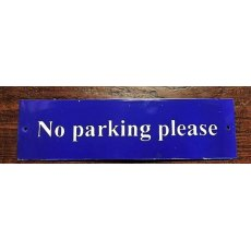 Enamel Sign (No Parking)