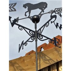 Black Weathervane (Horse)