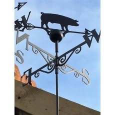 Black Weathervane (Pig)
