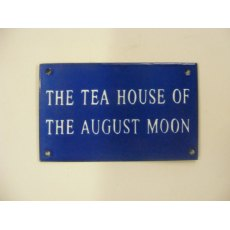 Enamel Sign (August Moon)