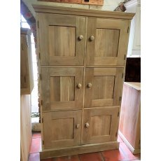 Oak 6 Door School Cupboard