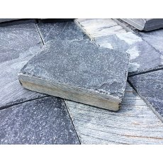 Dark Grey Slate Flat Cobble Setts