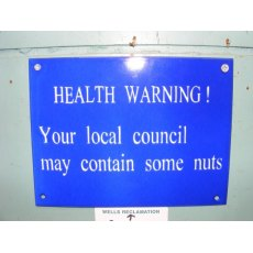 Enamel Sign (Health Warning)