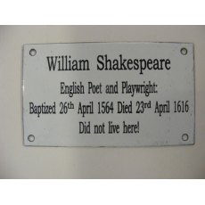 Enamel Sign (William Shakespeare)