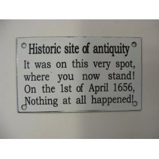 Enamel Sign (Historic Site of Antiquity)