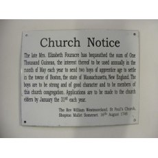 Enamel Sign (Church Notice)